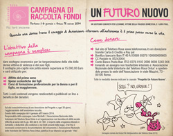 Telefono Rosa - Campagna di raccolta fondi UN FUTURO NUOVO