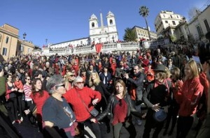"Flash mob ""One Nillion Rising for Justice"" in Rome"